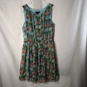 Signature Robbie Bee 14 Dress Blue Green Pink 995